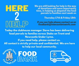 Newcastle Town FC Help the community
